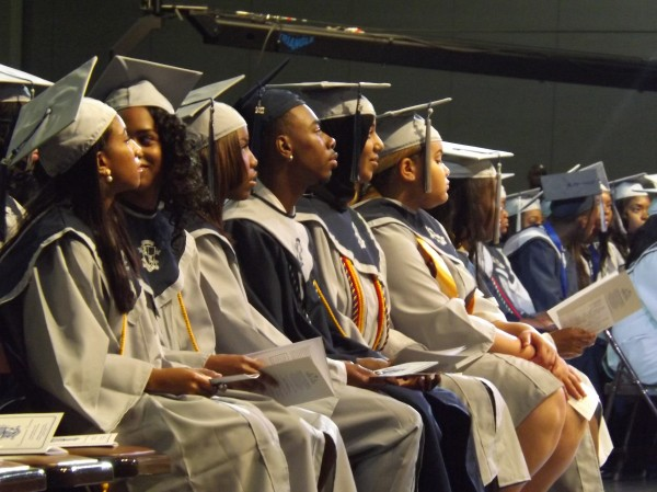 DeKalb County School District touted its recent improvements in graduation rates and SAT test scores. Photos courtesy of Wikimedia Commons