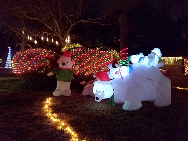 Neighbors along Addison Drive in Doraville show their holiday spirit with extensive light and yard displays. Photo by Gale Horton Gay