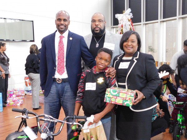 """The DeKalb County Sheriff's Office hosted the 10th annual """"Adopt a Family for Christmas"""" holiday event at the DeKalb County Jail, Dec. 20."""
