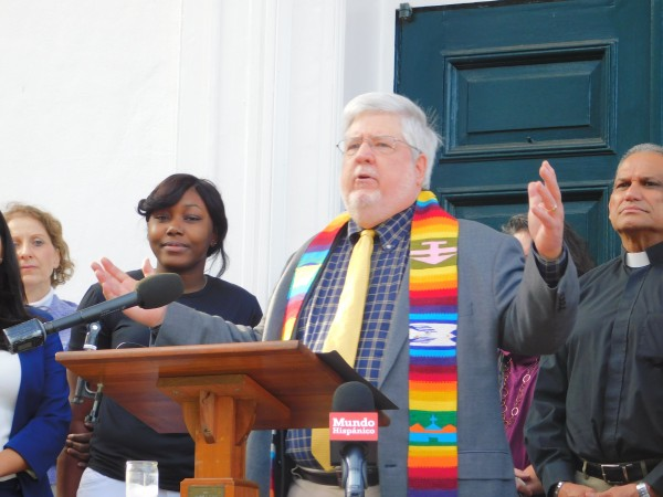 In November of 2017,  Rev. Tom Hagood of Columbia Presbyterian Church held a press conference in front of the church to announce Columbia Presbyterian would be a sanctuary church for immigrants.