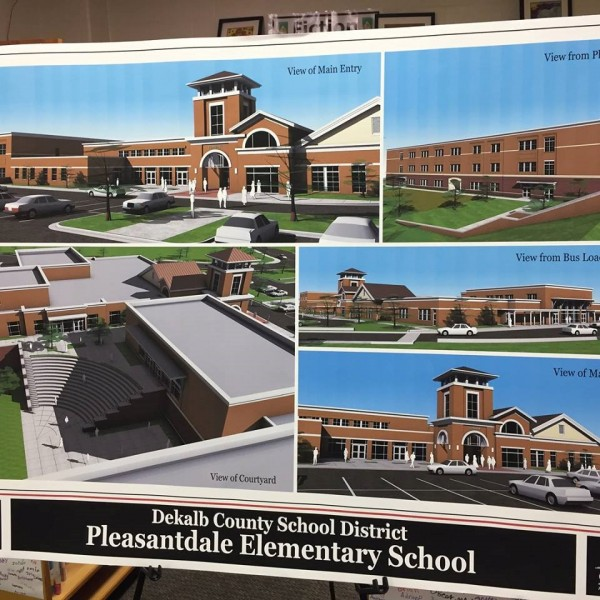 A new Pleasantdale Elementary building will be built on a 7.3 acre plot of Pleasantdale Park. Photos submitted.