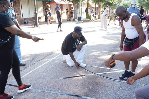 Lithonia Community Paints Black Lives Matter On Main Street